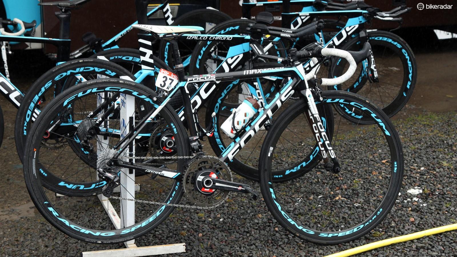 Domenico Pozzovivo's (Ag2r-La Mondiale) Focus Izalco Max will supposedly weigh exactly 6.8kg when the Giro d'Italia hits the high mountains