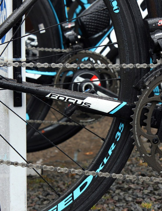 Chain stays are relatively small compared to many other modern frame designs