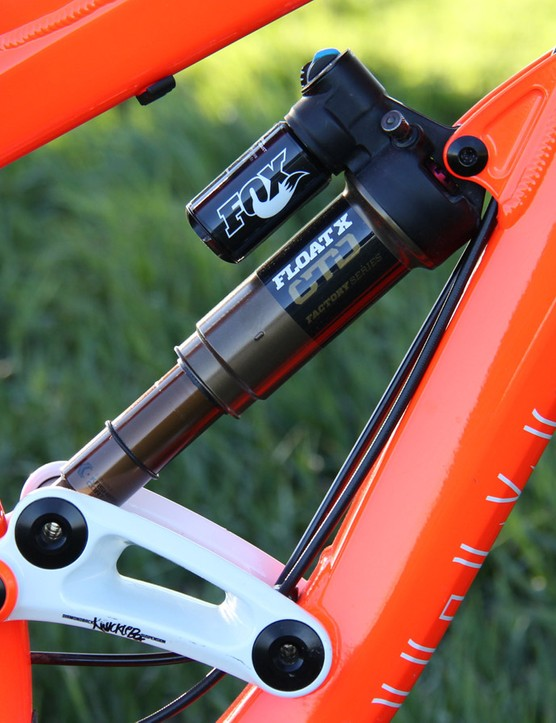 The Mission Pro is equipped with a Fox Float X CTD shock