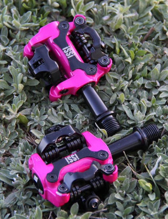 iSSi pedals are Shimano SPD-compatible and come in eight colors and three spindle lengths