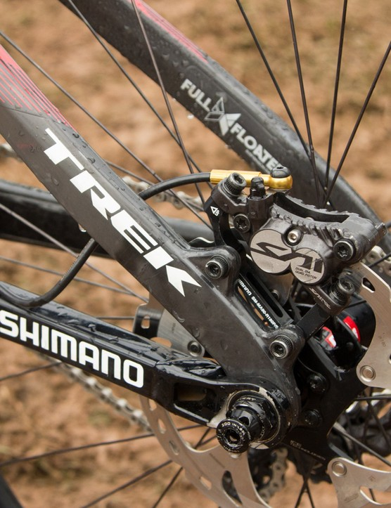 Active Braking Pivot places a pivot point at the rear axle. This is something used across all of Trek's full-suspension models