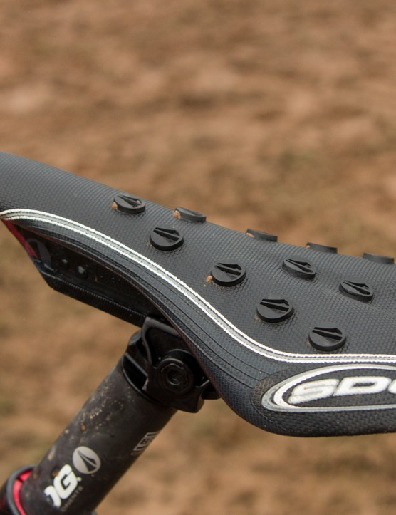 At Cairns Brook MacDonald was using a SDG I-Fly Storm for a little extra traction in the saddle