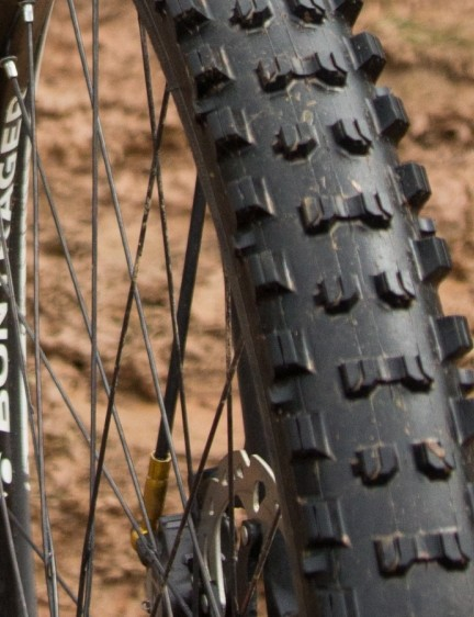 A closer look at the prototype Bontrager Mud Team Issue