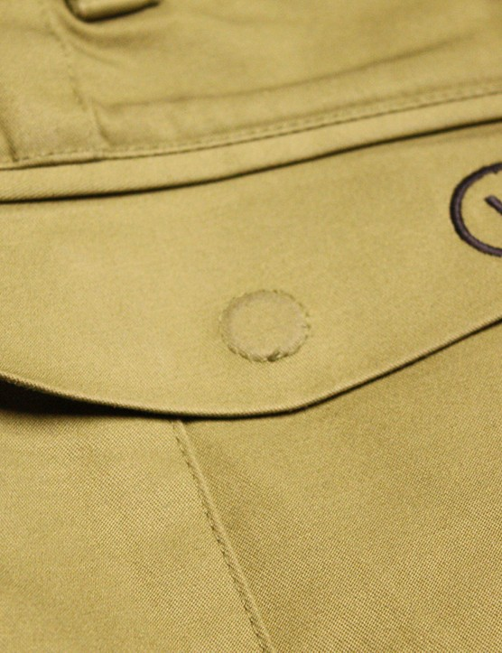 The rear pocket features a convenient and secure magnetic closure