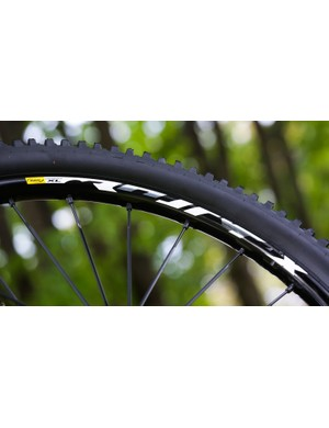 Reinforced casing and a reasonably hard 50a rubber compound is designed to help balance durability, reliability and grip