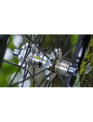 The new Crossmax XL wheel system uses Mavic's ITS-4 freehub, which is XD Driver-compatible, and uses four pawls for rapid engagement