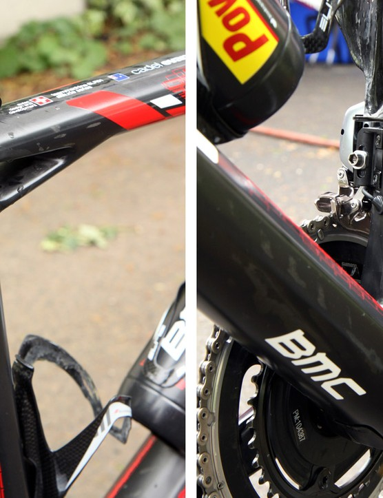 Even without the BMC logo, it'd be easy to identify this frame