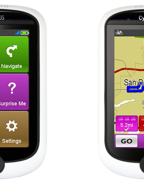The Magellan Cyclo 505 offers a variety of navigation options in a color touchscreen computer