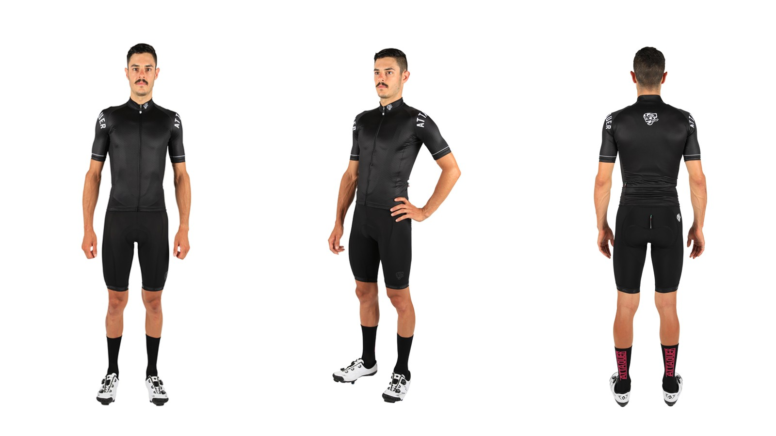This blacked out kit features subtle hints of white and gloss black. The quality is top notch