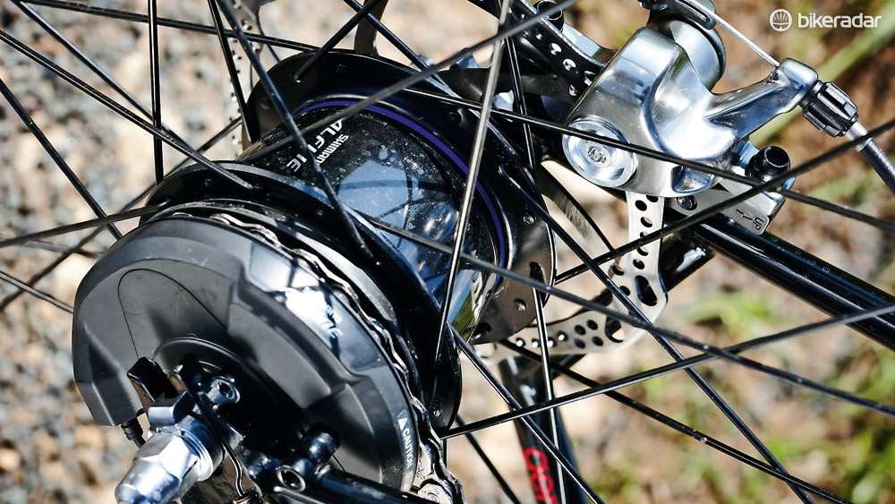 The modified Alfine hub is top quality but adds to the overall weight