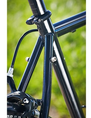 Air-hardened, thin-walled Reynolds 853 tubing makes for a lively frame