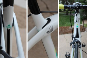 The Silque comes with the flexible IsoSpeed junction at the rear with a tall head tube up front