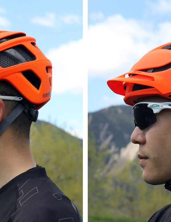 The removable visor offers a wide range of adjustment