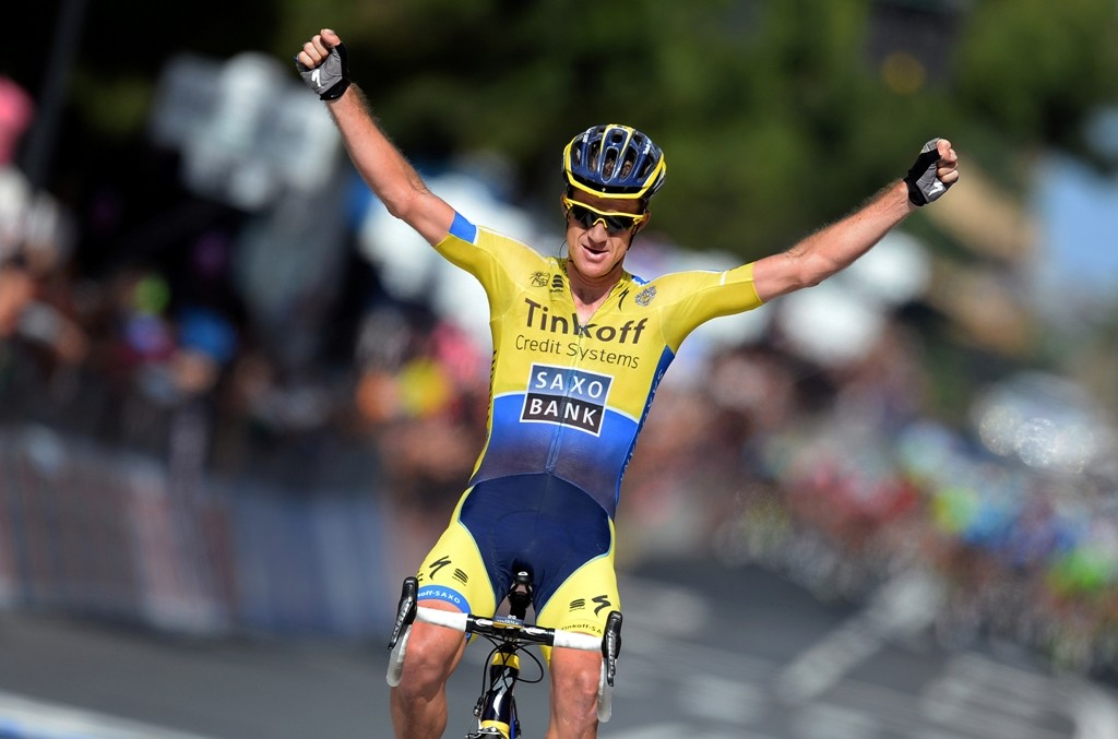 Mick Rogers (Tinkoff-Saxo) claims a rare grand tour stage win