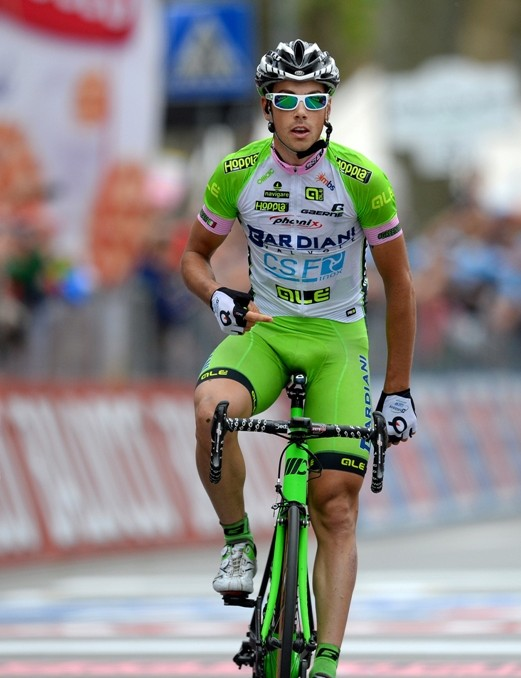 Marco Canola of Bardiani-CSF grabs a well-earned victory