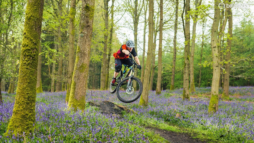 The Force X is mostly a pleasure at high speed, though its relatively steep angles and so-so fork make for occasional nerves
