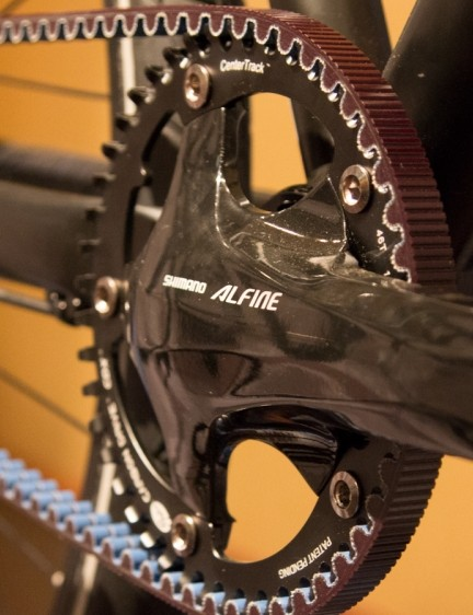 The Trace 55's crank is also a Shimano Alfine