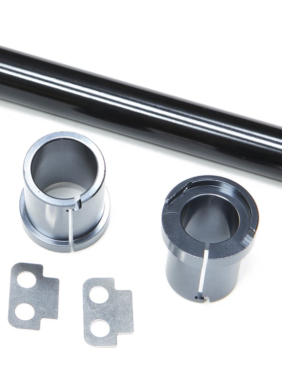 This new conversion kit, which comes with the fork, enables the use of either a 15mm or 20mm axle