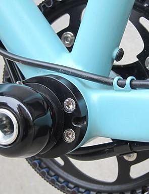 The PF30 bottom bracket also fits this adjustable eccentric bottom bracket
