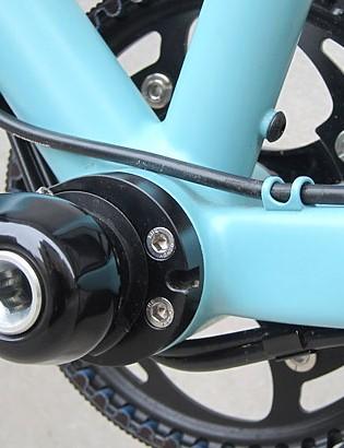 The PF30 bottom bracket also fits this adjustable eccentric bottom bracket