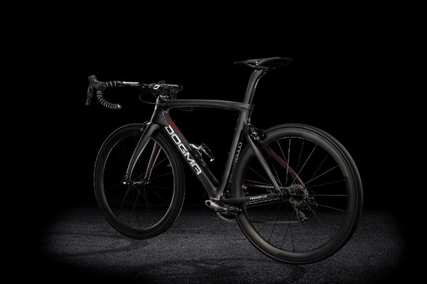The Pinarello Dogma F8 - an all-round road bike with aero niceties. To be used at the Tour de France
