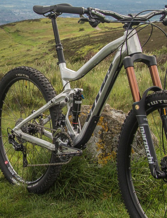 Vitus Escarpe 275 2015 prototype - 135mm of travel, 650b wheels and geometry intended for aggressive trail riding