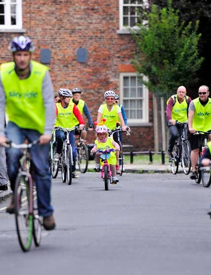 Sky Ride big bike events are free one-day cycling events