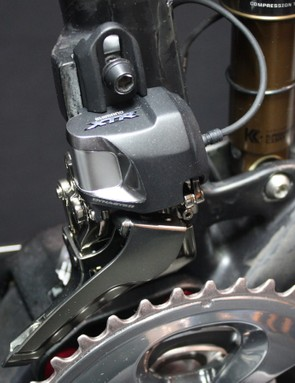 The front derailleur doesn't do this quite so well…