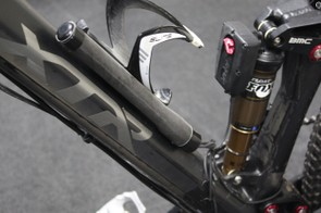 Shimano has said that the battery can be mounted on a bottle cage (as shown above), within a seat tube or even within the steerer of certain forks