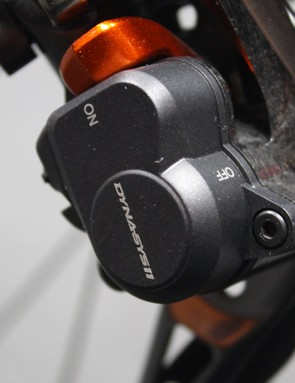 The XTR Di2 rear derailleur features the same clutch adjustment as its mechanical sibling, the RD-M9000