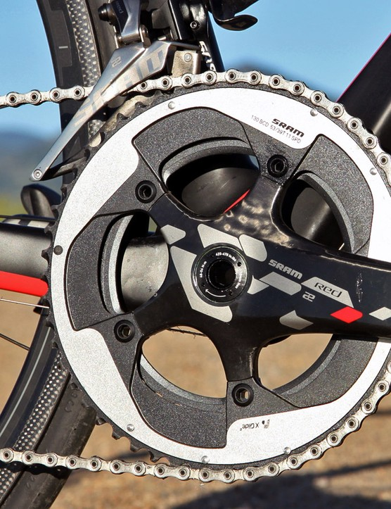 Unfortunately, Velo Vie doesn't offer the SRAM Red 22 crankset with a compact option