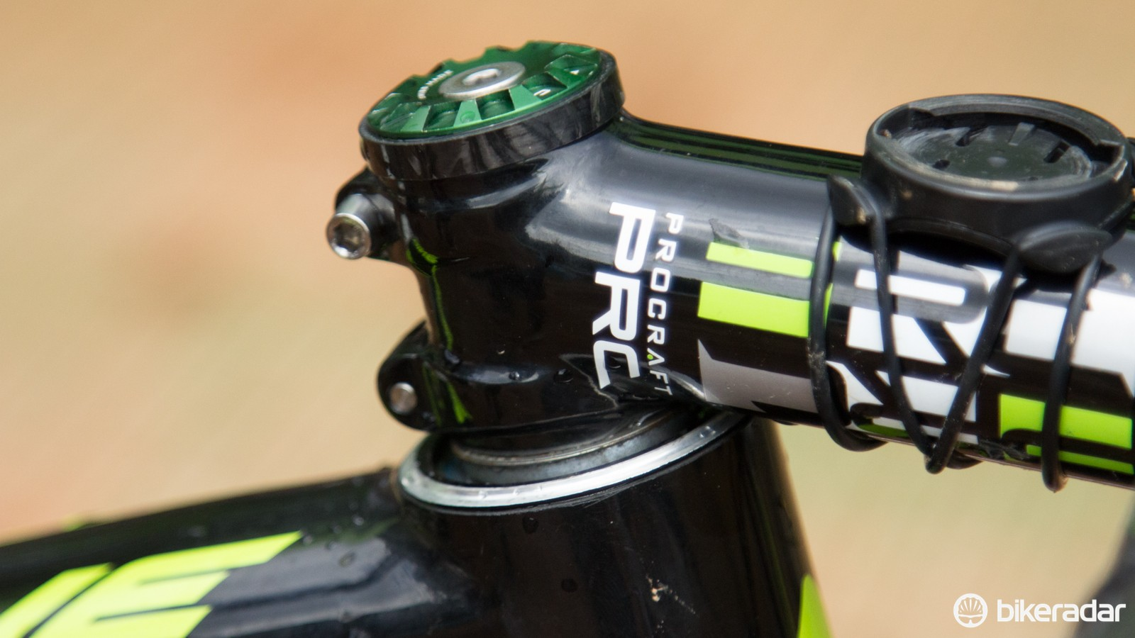 Getting down: Hermida rides with the headset bearings exposed in order to lower his handlebar height