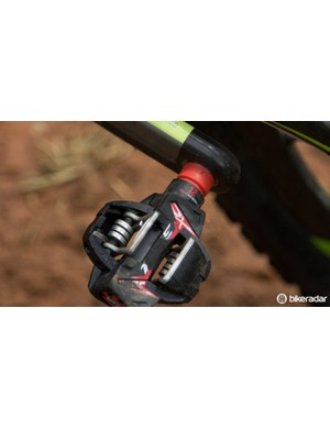 Time ATAC XC12 pedals feature a titanium axle and carbon body construction