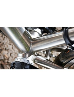 Significantly oversized tubing creates a stiff frame