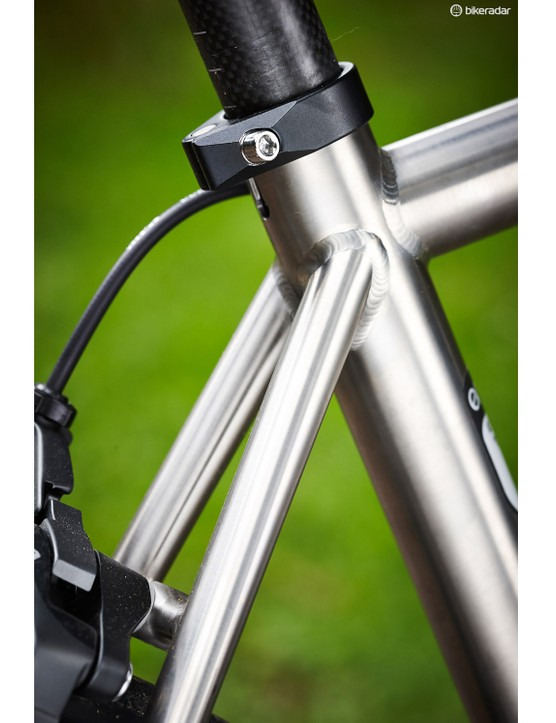 Slimmed-down seatstays are designed to add comfort to the ride