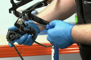 Reverse the process to fit your new derailleur hanger