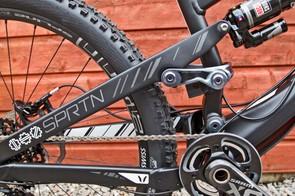 The Spartan uses Dave Weagle's Split Pivot suspension design