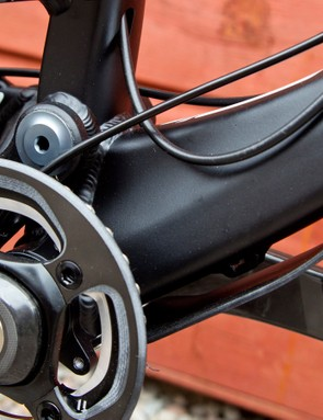 The Spartan has ISCG-05 tabs and a direct mount for a front derailleur