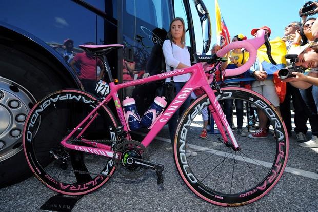 Nairo Quintana's (Movistar) very pink Canyon Ultimate CF SLX