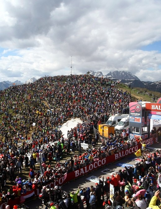 The Monte Zoncolan was groaning under the weight of fans