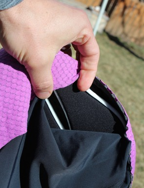 Two 8mm memory foam inserts are stitched to the underside of the chamois to support the sit bones