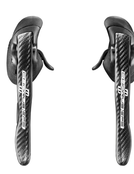 Campagnolo Chorus ErgoPower levers have been updated - those thumb paddles have been slightly reshaped