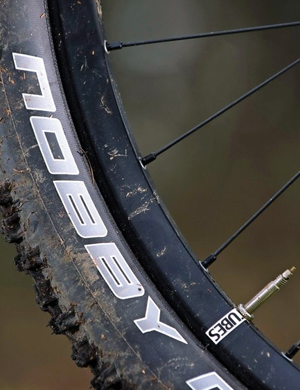 Schwalbe rubber rolls easily once you've got the 1-B shifting