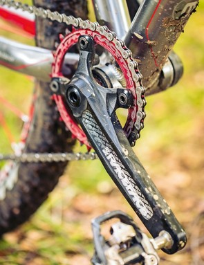 A Race Face Narrow/Wide ring pairs well with 10-speed Shimano gearing