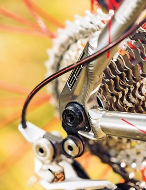 Shifters and rear derailleur come from Shimano's XT stable