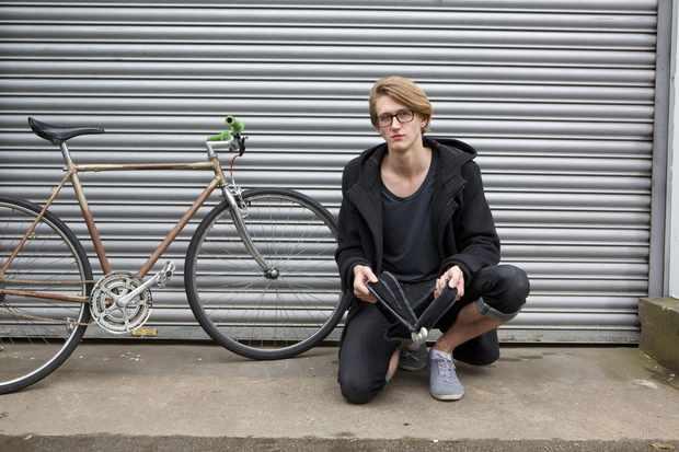 Felix Ure and his new bike lock