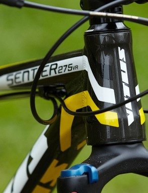 Mechanically formed triple-butted aluminium tubes make up the bulk of the Sentier frame