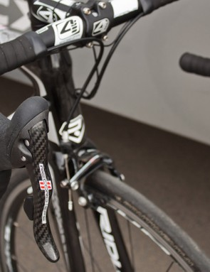 Record EPS isn't a stock build, but the bike is available as a frameset