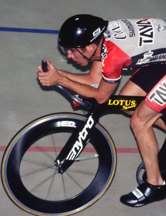 Colby Pearce used this Lotus Sport 110 to set the US hour record in 1995