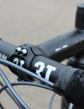 The 3T alloy cockpit is frankly what the pros often ride for durability's sake. And to be even more frank, 3T's recent rash of recalls for carbon aerobars is another good reason to go with metal